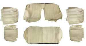 Volvo 240 245 265 Seat Cover Custom Upholstery Set Beige Perforated Centers