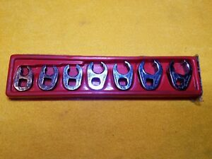 Snap On Tools 207sfrh 7 Pc Crowfoot Flare Nut Wrench Set 6 Point Set 3 8 Dr