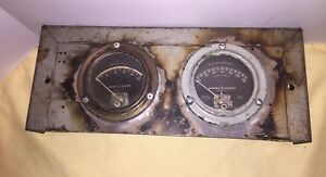Vintage Ge Generator Gauge Panel Meter Set Battery Amps Voltage Type Do 47