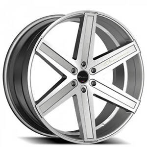 4 set 24 Giovanna Wheels Dramuno 6 Silver Machined Rims Fs