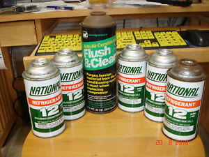 Refrigerant R 12 5 Cans Plus 1 Can Of Flush Clean