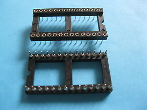 170x Ic Socket Adapter Round 28 Pin Headers ic sockets Pitch 2 54mm X 15 24mm