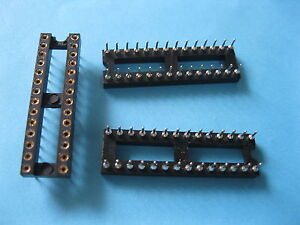 170 X Ic Socket Adapter Round 28 Pin Headers ic sockets Pitch 2 54mm X 7 62mm