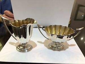 Antique Whiting Sterling Silver Creamer And Sugar Bowl