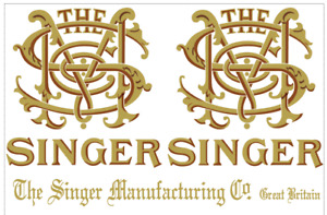 Singer Model 29 Long Arm Sewing Machine Restoration Decals 40685