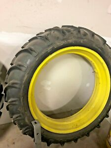 11 2x38 Rear Tractor Tire Rim Pair John Deere A B G 11 2 X 38 Rims Tires