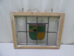 Vintage Stained Leaded Glass Window Architectural Window Wall Decor
