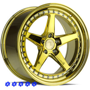 Aodhan Ds05 18x8 5 9 5 35 Pvd Gold Staggered Rims Wheels 5x100 13 19 Subaru Brz