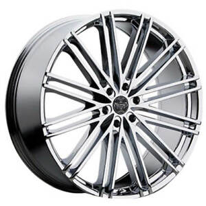 4pcs 24 Versante Wheels Ve227 Chrome Rims Fs