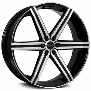 4pcs 24 Versante Wheels Ve228 Black Machined 6 Lugs Rims Fs
