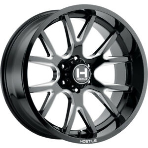 20x10 Black Milled Hostile Rage 6x5 5 19 Wheels Open Country Mt 35 Tires