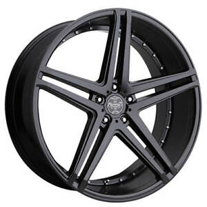 4pcs 24 Versante Wheels Ve233 Matte Black Rims Fs