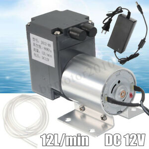 Dc 12v 12l min Vacuum Pump Negative Pressure Suction Bracket tube power Supply