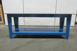 H d 3 8 Thick Top Steel Fabrication Layout Welding Table Work Bench 84 X 30