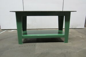 H d 1 2 Thick Top Steel Fabrication Layout Welding Table Work Bench 60 X 30
