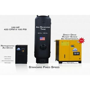 100hp 3 Phase Rotary Screw Compressor Pkg By Eaton 10yr Warranty no China Parts