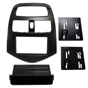 Radio Replacement Dash Mounting Installation Kit Single Double Din For Spark