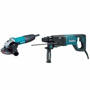 Makita Hr2621x2 1 inch Rotary Hammer Sds plus Ga4530 4 1 2 inch Grinder Kit