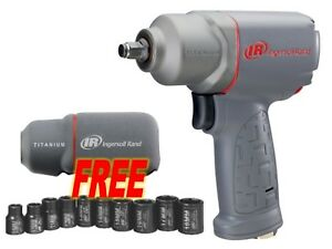Ingersoll Rand 2115timax 3 8 Impact Wrench W Free Boot 10pc Socket Set