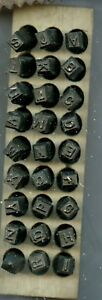 Young Brothers Steel Stamps Reversed Heavy Duty 3 16 Letters Hands Stamps