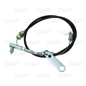Black Universal 24 Inch Throttle Pedal Cable Stainless Steel Cable Kit