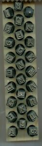Young Brothers Steel Hand Stamps Reversed Heavy Duty 1 4 Letters Steel Stamps