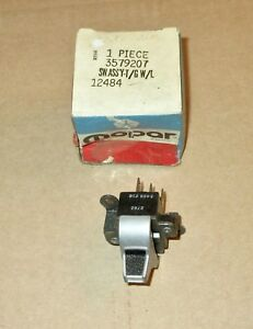Nos Mopar 3579207 Tailgate Window Switch 1972 Plymouth Dodge Chrysler Wagons