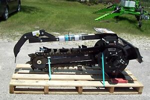 Bradco 615 Trencher Attachment digs 36 70 30 Agressive Shark Teeth in Stock