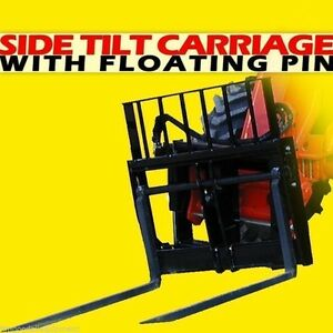 72 Skytrak Telehandler Side Tilt Carriage W floating Pin With 20 Overall