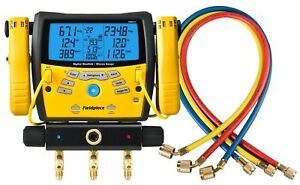Fieldpiece Sman360 Kit With Yellow Jacket 22985 Plus Ii 1 4 Hose 60 3 Pack