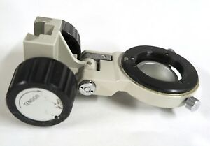 Nikon Diaphot Tmd Microscope Condenser Mount Holder Tension Focus Knobs Included