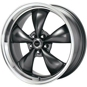 17x9 Anthracite American Racing Torq Thrust M Wheels 5x4 5 45 Ford Mustang