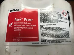 Eco Lab Apex Power Dishwasher Detergent 3 1 Kg New Sealed Cube 20 Shipping