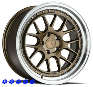 Aodhan Ds06 Wheels 18x8 5 35 Bronze Rims 5x114 3 08 16 17 Mitsubishi Lancer Gts
