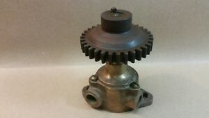 Antique Brass Gear Driven Steam Engine Water Pump Hit Miss Engine