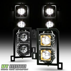 2013 2018 Dodge Ram 1500 Led Bumper Fog Lights Driving Lamps W switch Left right