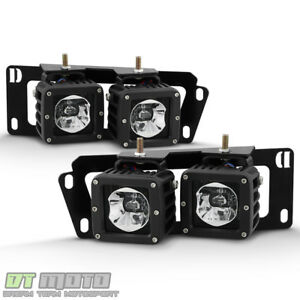 2009 2012 Dodge Ram 1500 10 18 2500 3500 Led Bumper Fog Lights Lamps W swith Kit