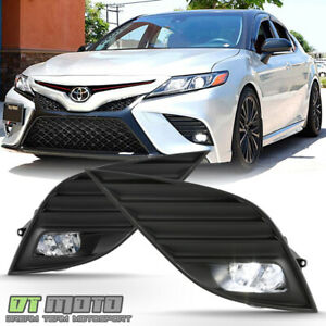 For 2018 2019 Toyota Camry Hybrid Se Xse Led Bumper Fog Lights Lamps W Switch