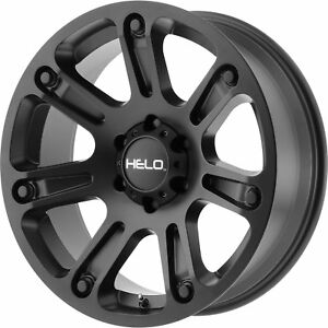 17x9 Black Helo He904 Wheels 8x180 0 Lifted Fits Chevrolet Silverado 2500 Hd
