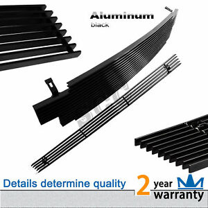 2pcs Fits 2001 2004 Toyota Tacoma Black Billet Grille Front Grill Combo Insert
