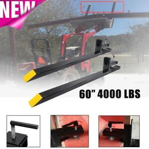 Clamp On Pallet Forks 4500lb Capacity Loader Bucket Skidsteer Tractor Heavy Duty