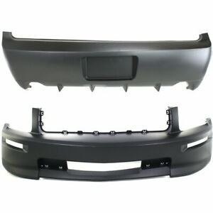 Front Rear Bumper Cover Set For 2007 09 Ford Mustang Gt W California Package