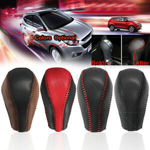 Leather Gear Stick Shift Knob Cover Handle Shifter Lever For Infiniti Qx50