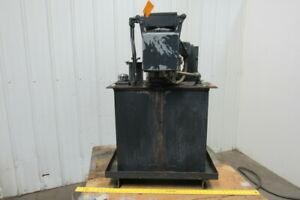 5hp 40 Gallon Hydraulic Power Unit station 208 230 460v 3ph