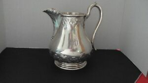 H B Stanwood Pure Coin Silver Awesome Pitcher