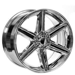 4 New 24 Iroc Wheels Chrome 6 Lugs Rims Fs