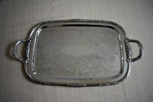 Ballad Community Silver Butlers Tray Country Lane 1953 Vintage Silver Tray