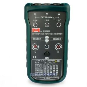 Digital Handheld Motor 3 phase Rotation Field Direction Indicator Meter Tester