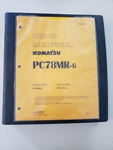Komatsu Hydraulic Excavator Shop Manual Pc78mr 6 Serial Number 1001 And Up