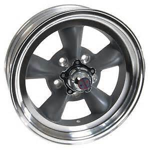 15x4 5 American Racing Torq Thrust D Gray Aluminum Mag Wheel 5x4 75 Vn1055461